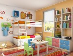Set Kamar Anak Modern Colourfull