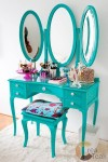 Blue Oval Shaby Dressing with 3 Mirror