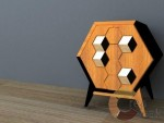 Honey Comb Side Table