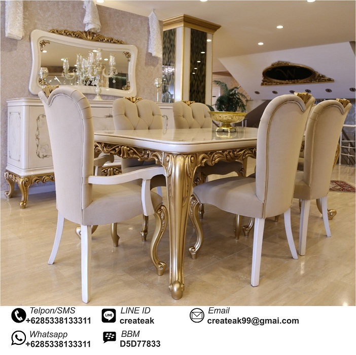Set Kursi Makan Luxury Kontemporer Createak Furniture
