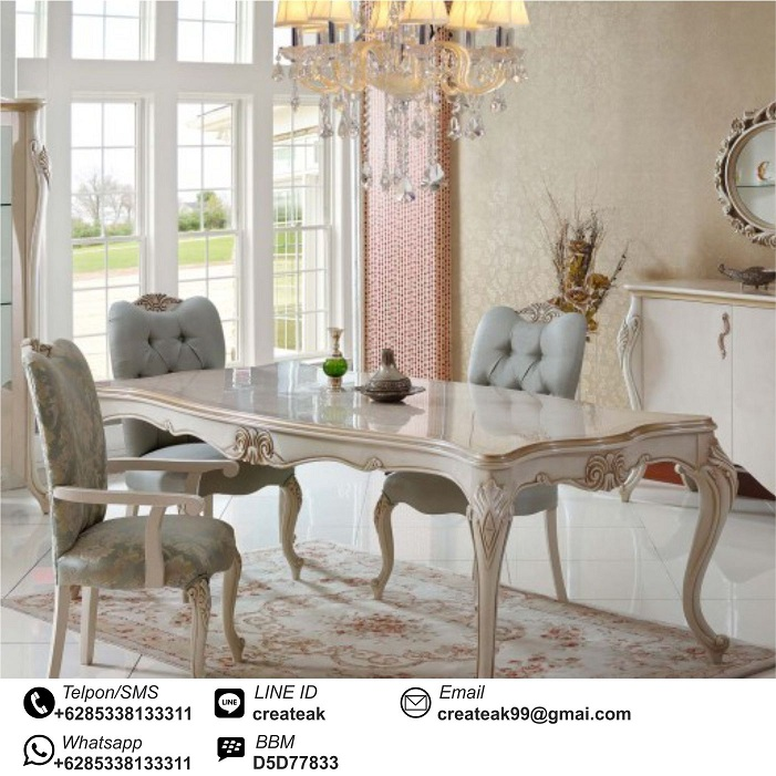set kursi makan mewah cantik createak furniture