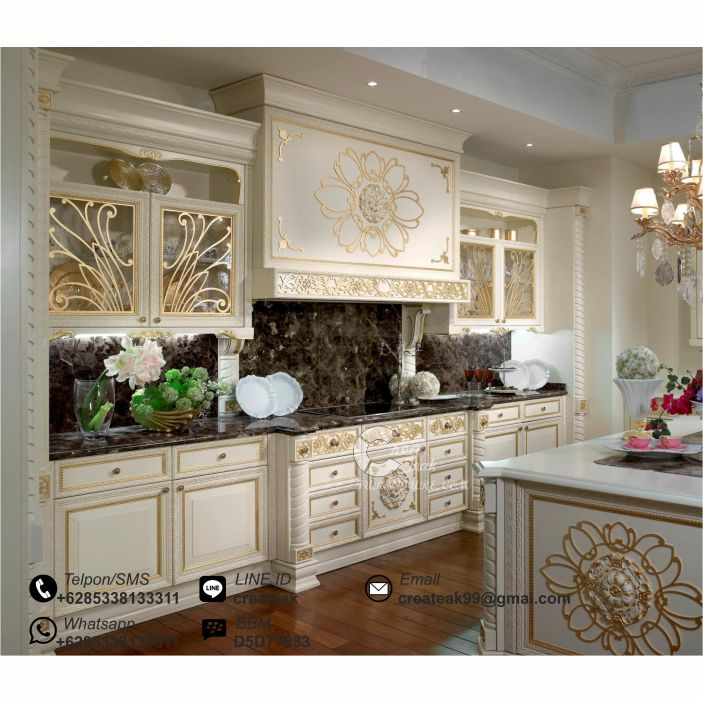 Set kitchen luxury kontemporer createak furniture for Daftar harga kitchen set aluminium
