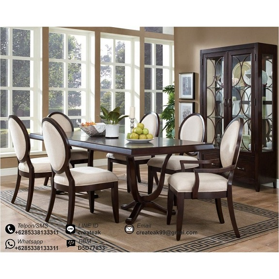 Set Kursi Makan Minimalis Oval Createak Furniture