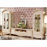 Bufet TV Set Mewah French Rococo