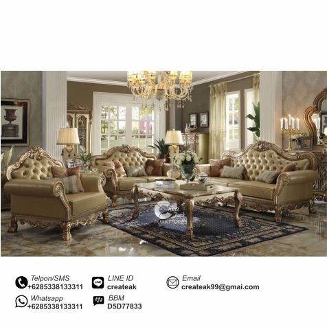 set sofa mewah brawijaya createak furniture createak
