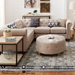 Set Sofa L Modern Chesterfield