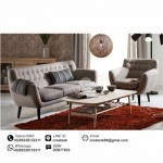 Set Sofa Tamu Retro Marunda