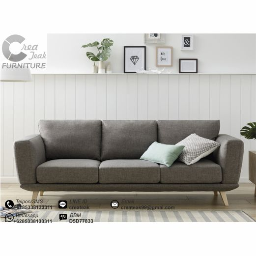 Sofa Vintage Minimalis Cyrus Createak Furniture Createak Furniture
