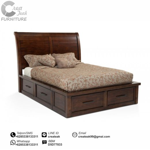 dipan minimalis jati 6 laci createak furniture