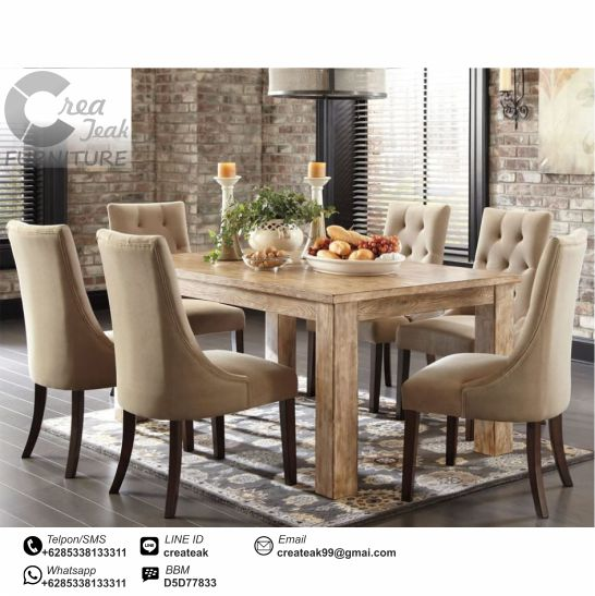 Set Kursi Makan Minimalis Luna Createak Furniture