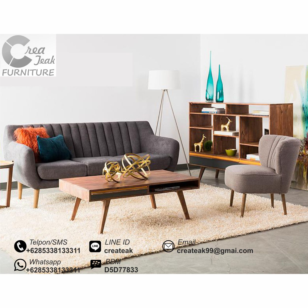 Set Sofa Tamu Retro Minimalis Verona Createak Furniture