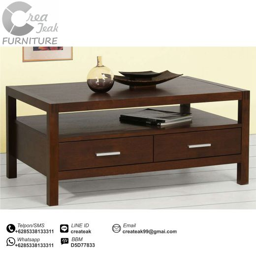 Meja Tamu Jati Minimalis Azka Createak Furniture