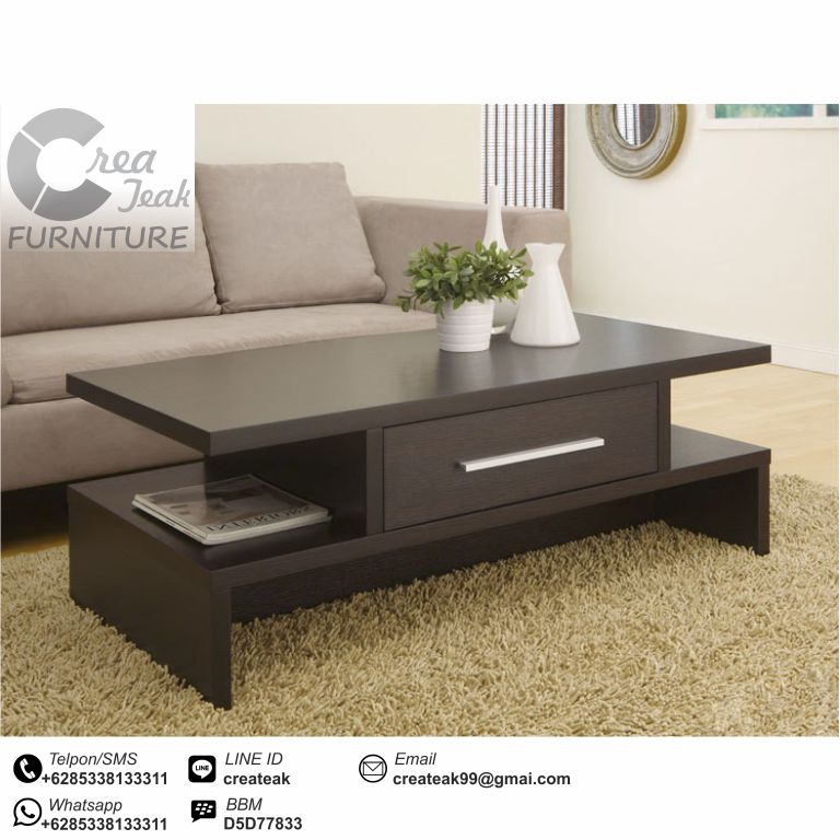 Meja Tamu Minimalis Modern Corza Createak Furniture